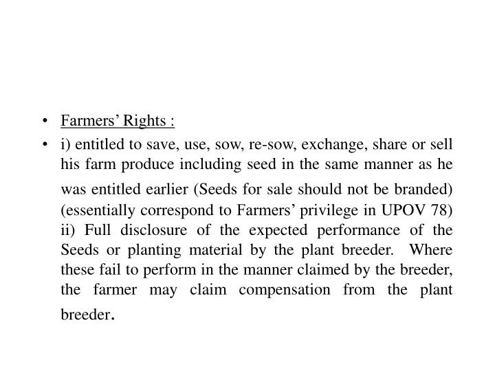 Farmers' Rights :