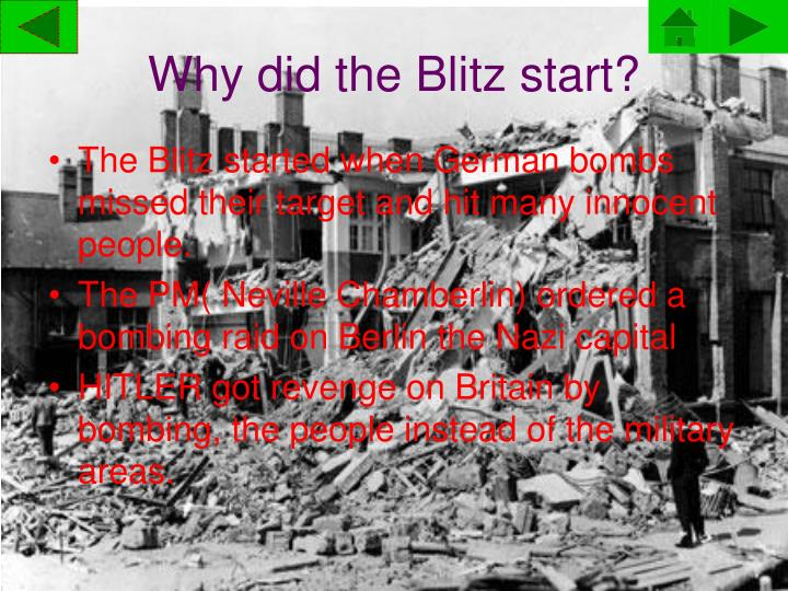 Why did the Blitz start?