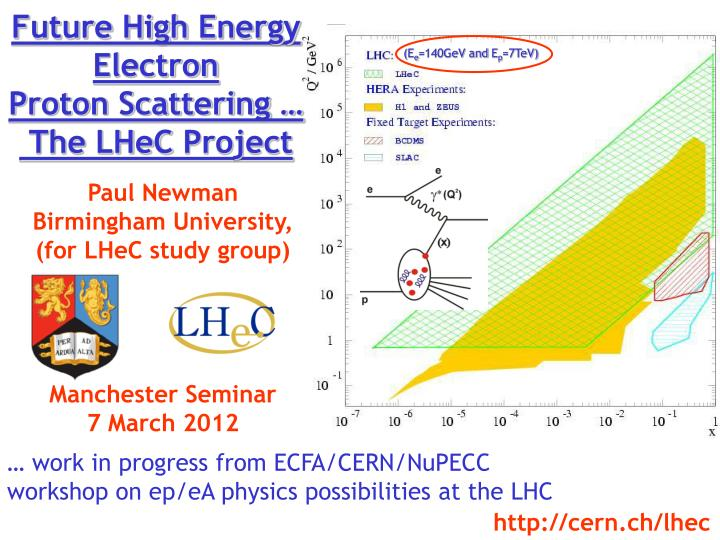 future high energy electron proton scattering the lhec project n.