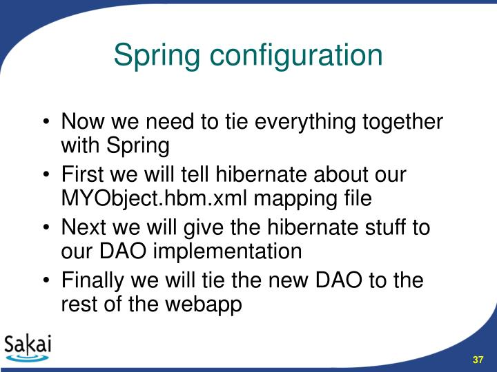 Now we need to tie everything together with Spring