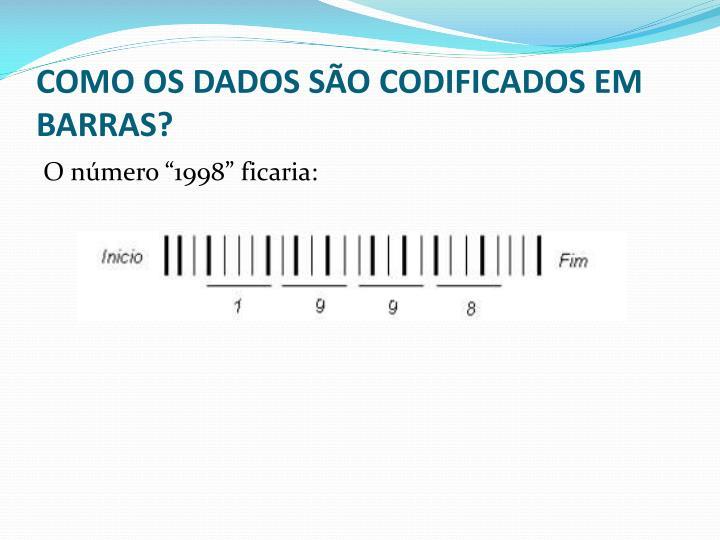COMO OS DADOS SÃO CODIFICADOS EM BARRAS?
