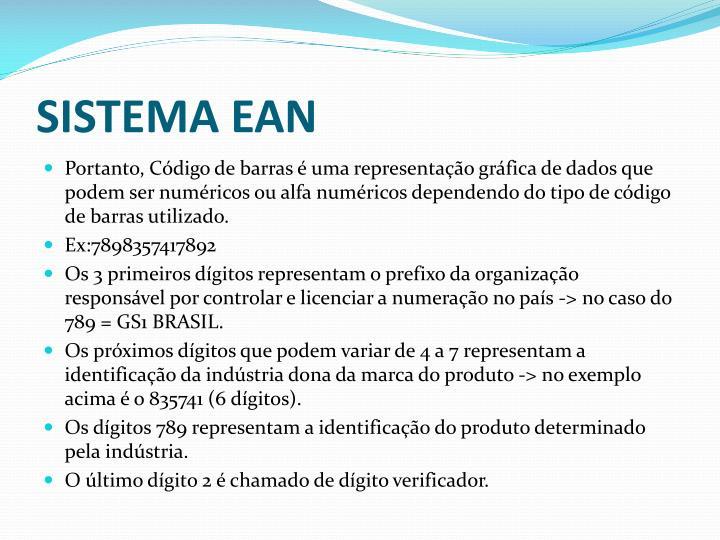 SISTEMA EAN