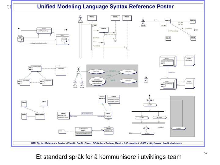 Et standard språk for å kommunisere i utviklings-team