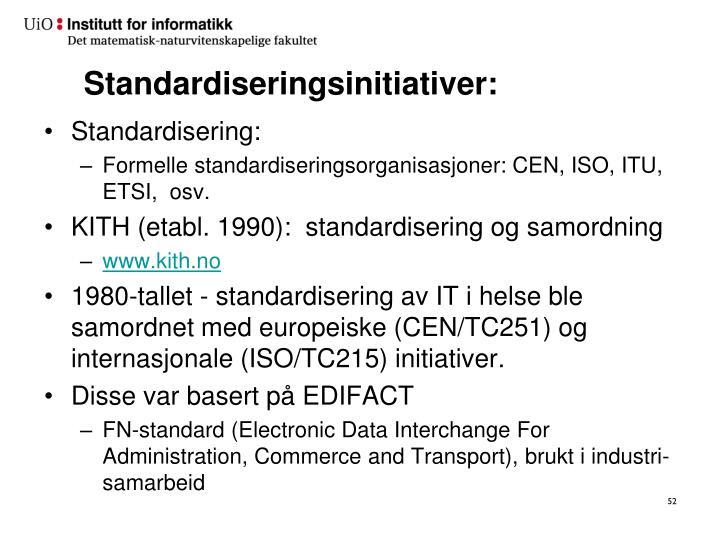 Standardiseringsinitiativer: