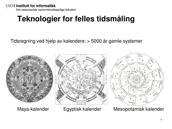 Teknologier for felles tidsmåling