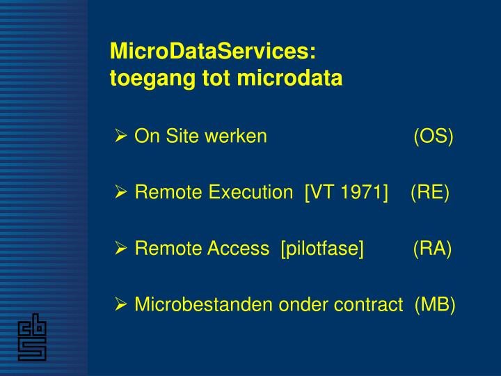Microdataservices toegang tot microdata