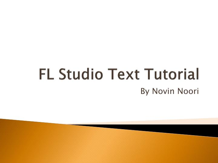 fl studio text tutorial n.