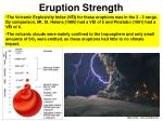 eruption strength