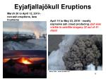 eyjafjallaj kull eruptions