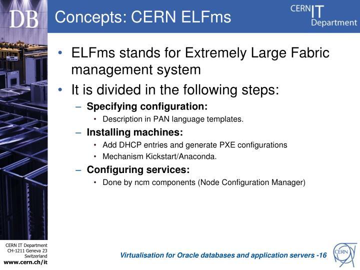 Concepts: CERN