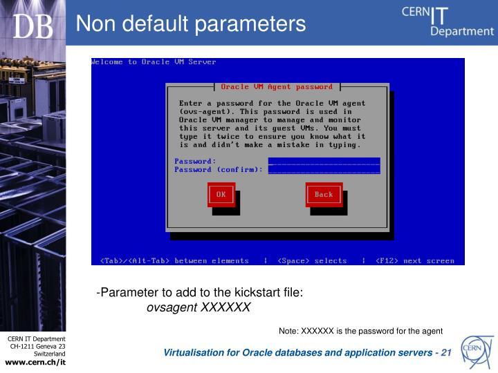 Non default parameters