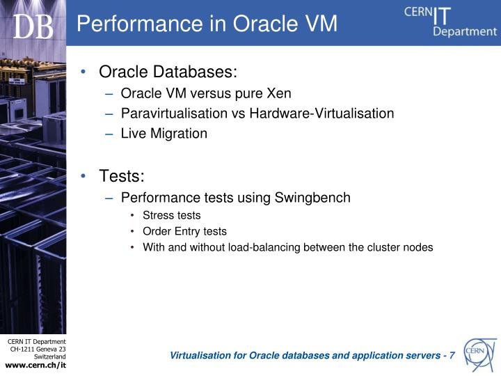 Performance in Oracle VM