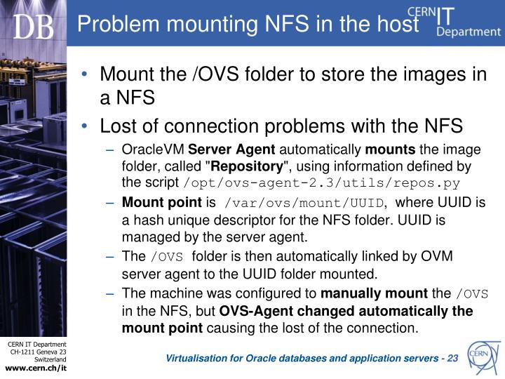 Problem mounting NFS in the host