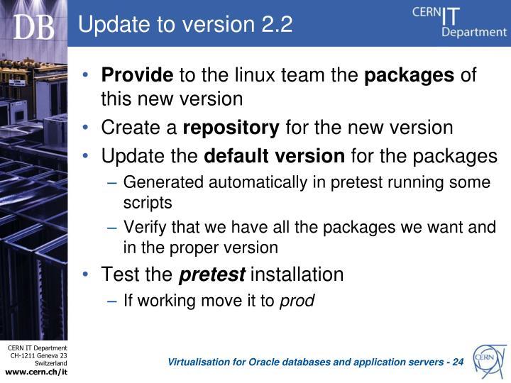Update to version 2.2