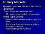 primary markets
