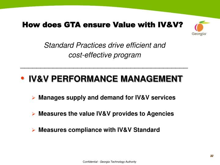 How does GTA ensure Value with IV&V?