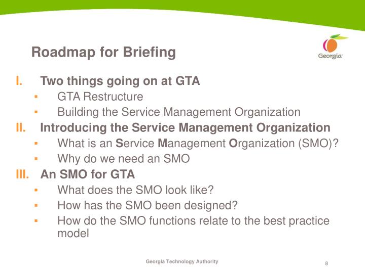 Roadmap for Briefing