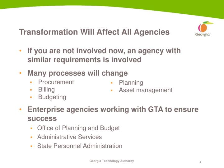 If you are not involved now, an agency with similar requirements is involved