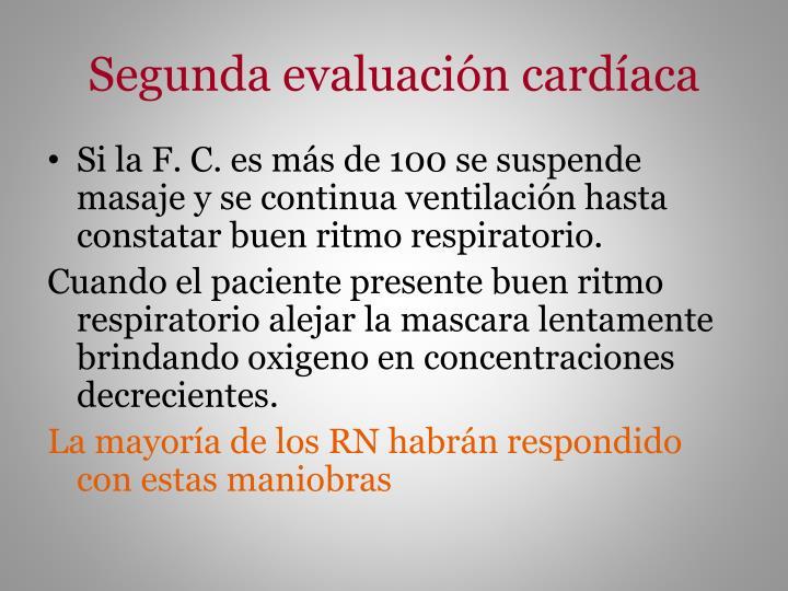 Segunda evaluación cardíaca