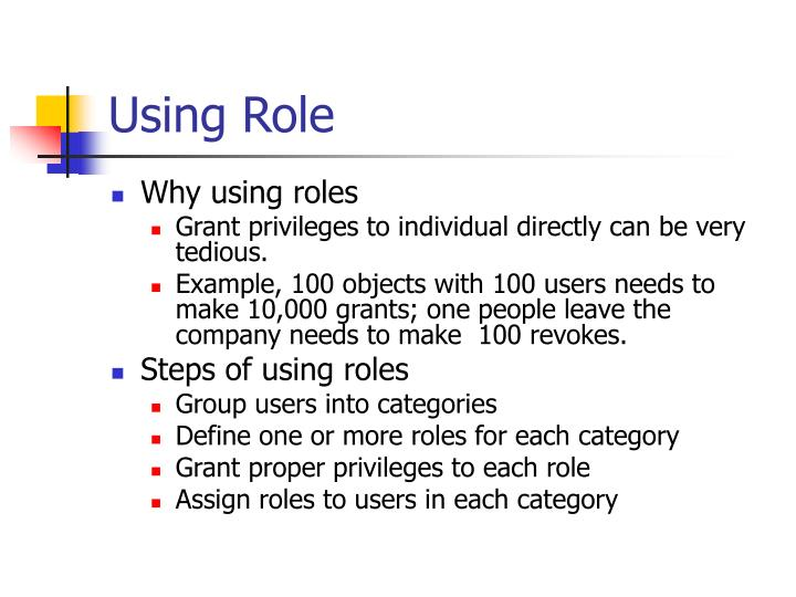 Using Role