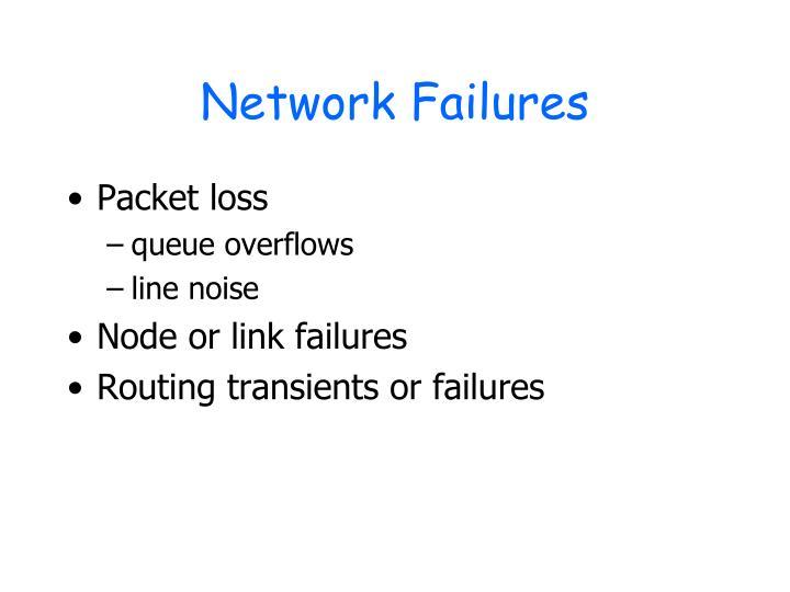 Network Failures