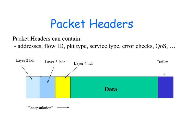 Packet Headers