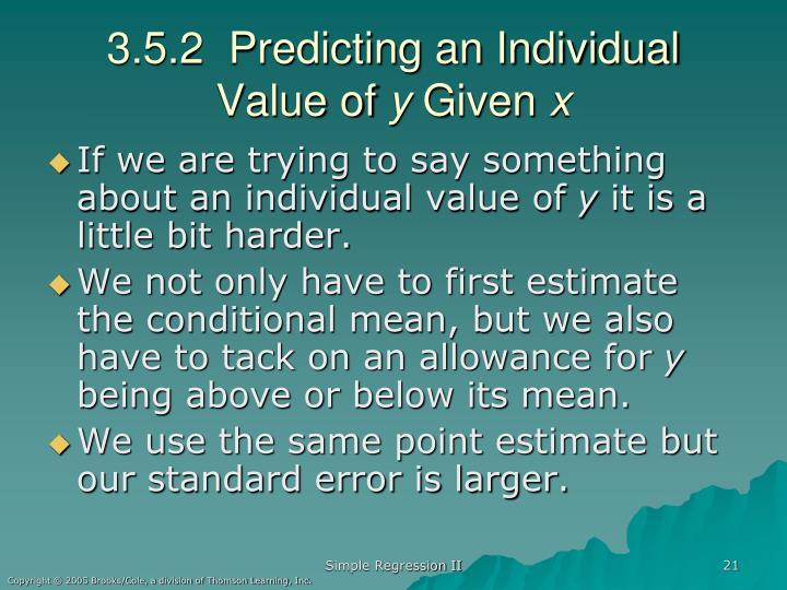 3.5.2  Predicting an Individual Value of