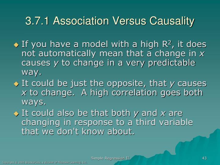3.7.1 Association Versus Causality