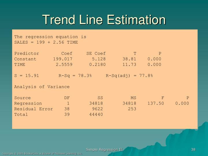 Trend Line Estimation