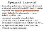 upozorn n financov n