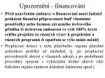 upozorn n financov n1