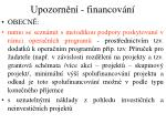 upozorn n financov n3