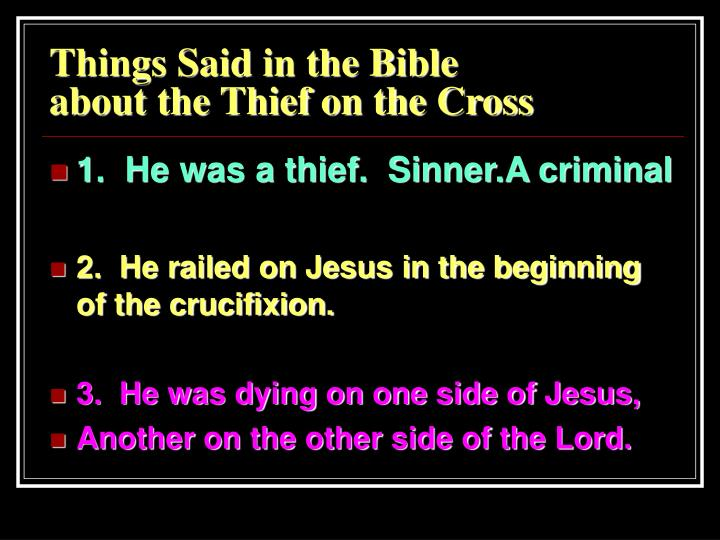 Things Said in the Bible
