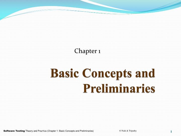 basic concepts and preliminaries n.