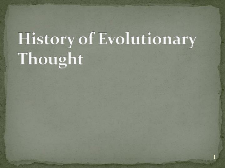 history of evolutionary thought n.