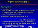 priority interventions 21