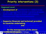 priority interventions 3
