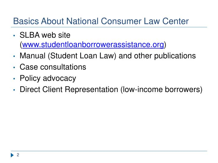 Basics about national consumer law center