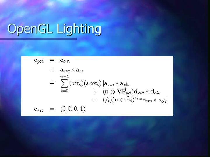OpenGL Lighting