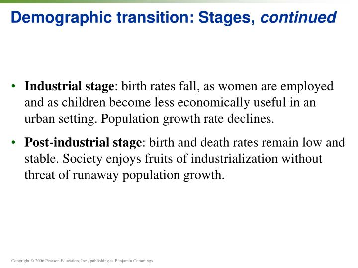 Demographic transition: Stages,