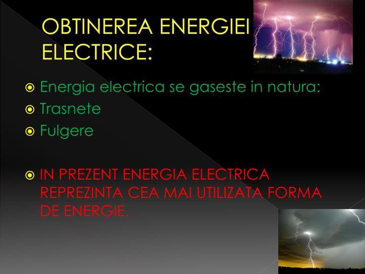 Obtinerea energiei electrice1