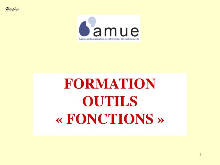 formation outils fonctions n.