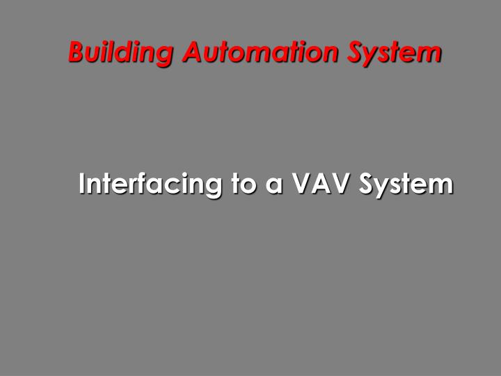 building automation system n.