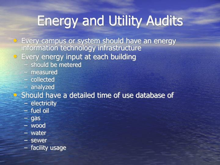 Energy and Utility Audits