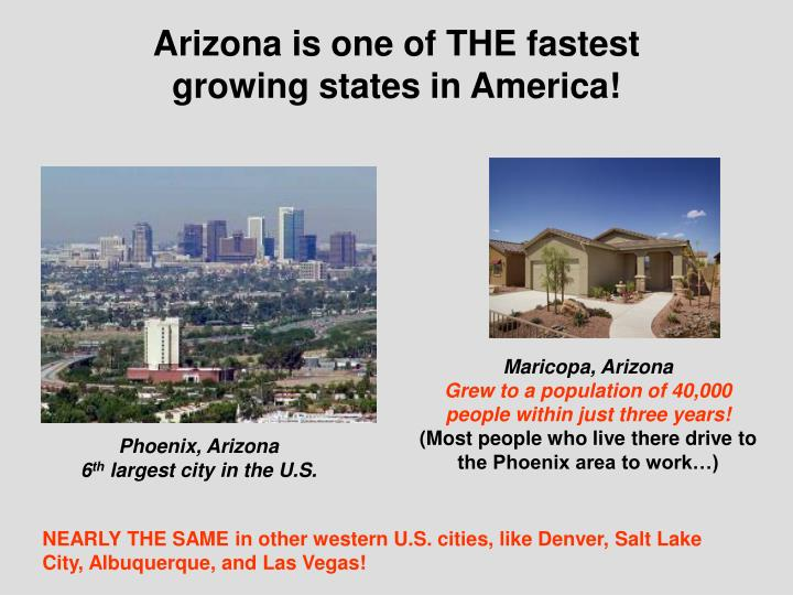 Arizona is one of THE fastest