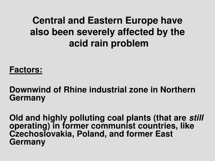 Central and Eastern Europe have