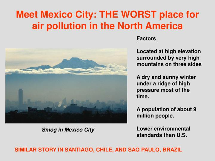 Meet Mexico City: THE WORST place for air pollution in the North America