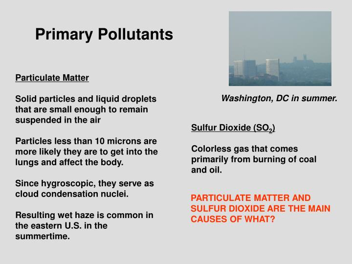 Primary Pollutants