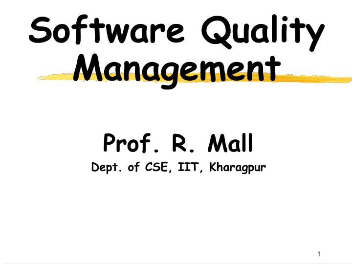 software quality management n.