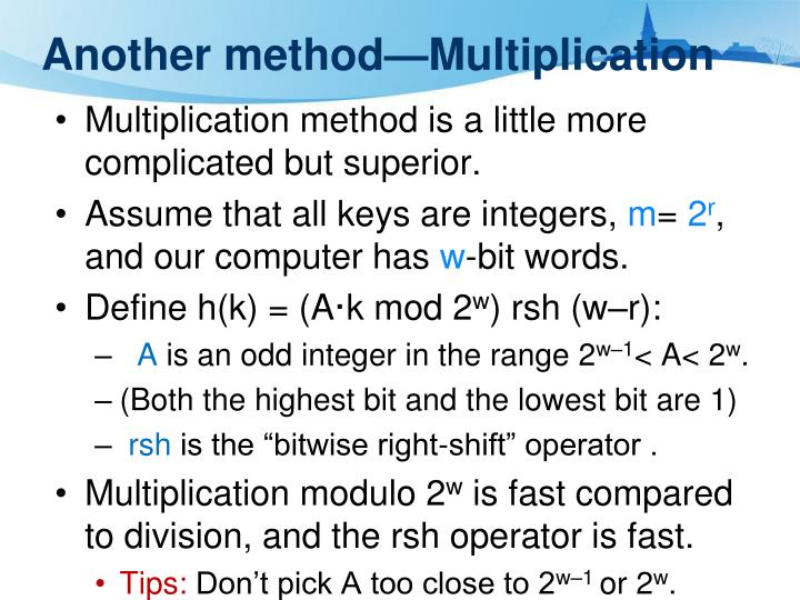 Another method—Multiplication